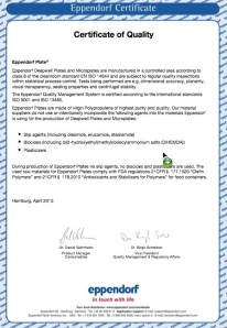 scientific lab supplies quality certificate
