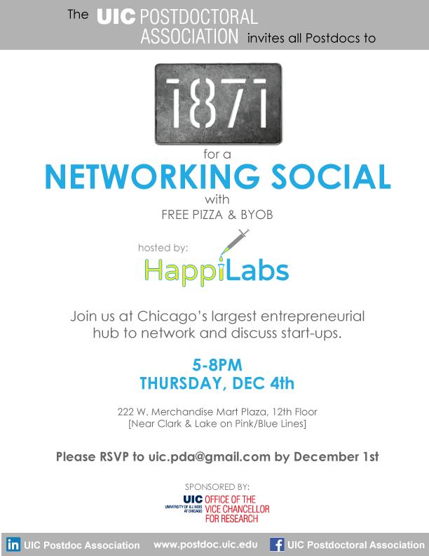 UIC postdoc networking happy hour